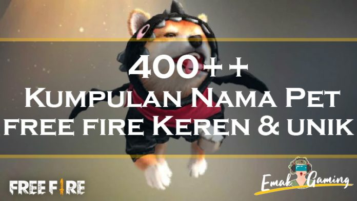 nama pet free fire keren