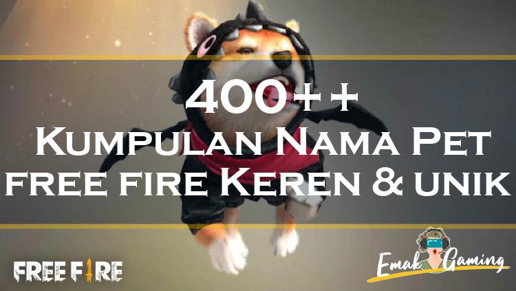 Kumpulan Nama Pet Kucing Anjing Panther Dan Panda Di Free Fire