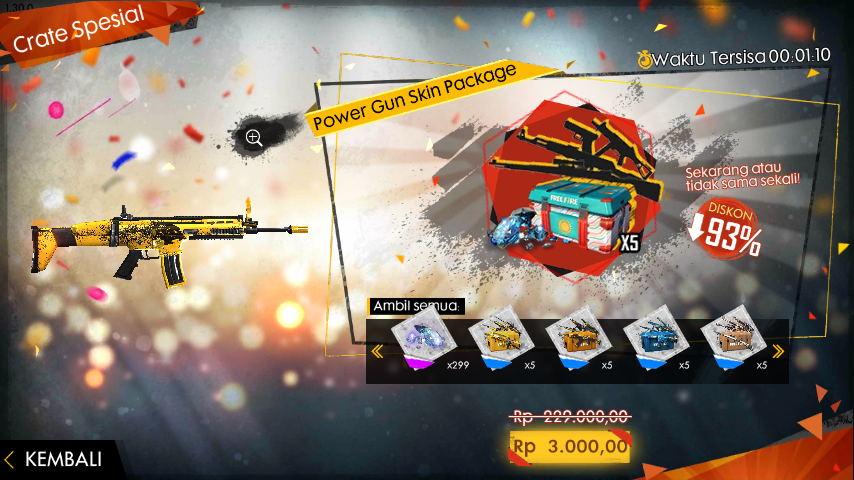 special airdrop free fire 3000 perak