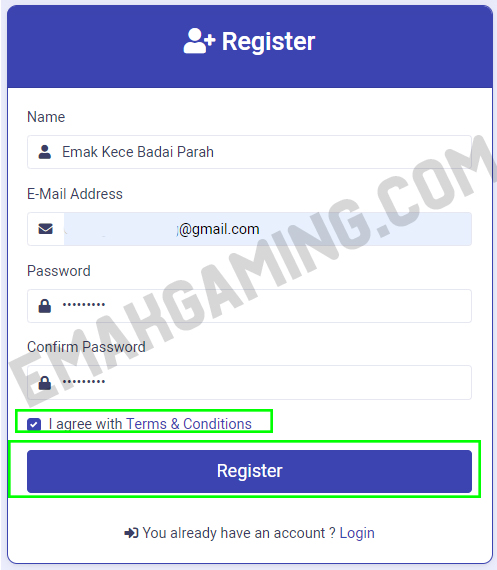 register akun prizat free fire