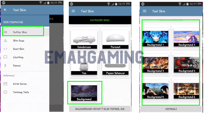 tool skin free fire apk emakgaming