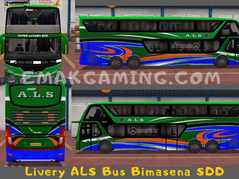 Livery Bussid ALS Bimasena SDD