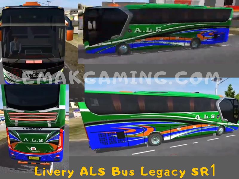 Livery Bussid ALS Legacy SR1