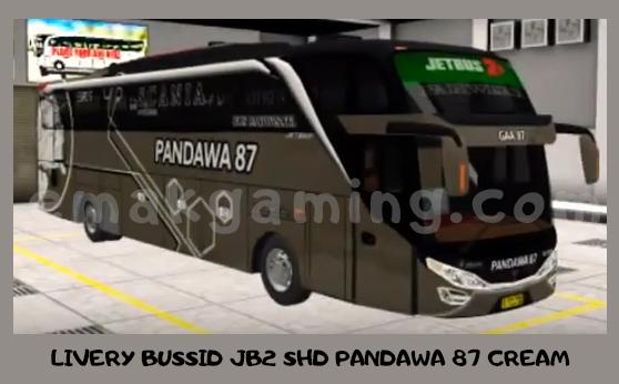LIVERY BUSSID JB2 SHD PANDAWA 87 CREAM