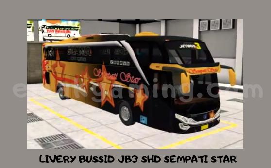 LIVERY BUSSID JB3 SHD SEMPATI STAR