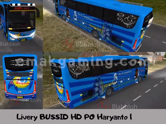 Livery BUSSID HD PO Haryanto 1
