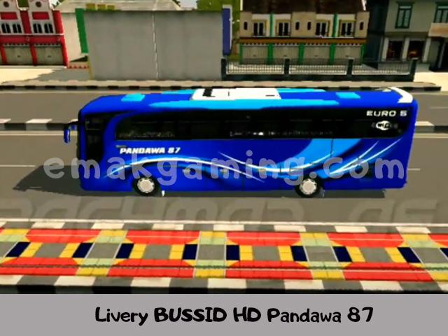 Livery BUSSID HD Pandawa 87