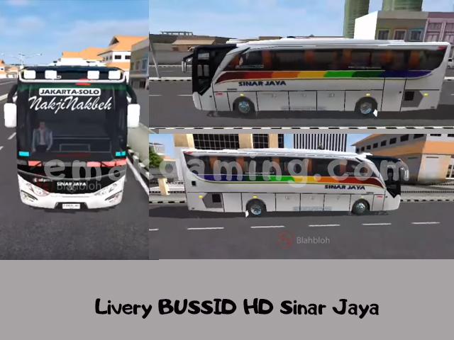 Livery BUSSID HD Sinar Jaya