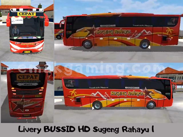 Livery BUSSID HD Sugeng Rahayu