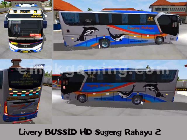 Livery BUSSID HD Sugeng Rahayu 2