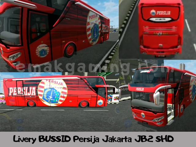 Livery BUSSID Persija Jakarta JB2 SHD