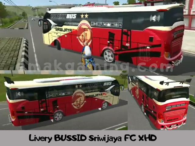 Livery BUSSID Sriwijaya FC XHD