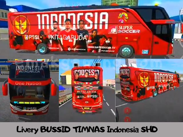 Livery BUSSID TIMNAS Indonesia SHD
