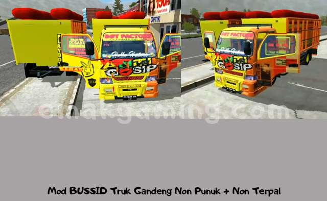 Mod bussid truk anti gossip gandeng
