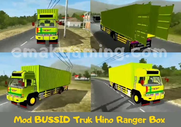 Mod BUSSID Truk Hino Ranger Box