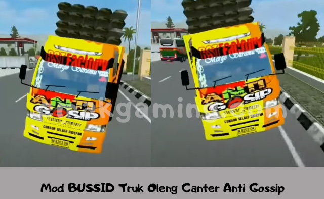 Mod BUSSID Truk Oleng Canter Anti Gossip