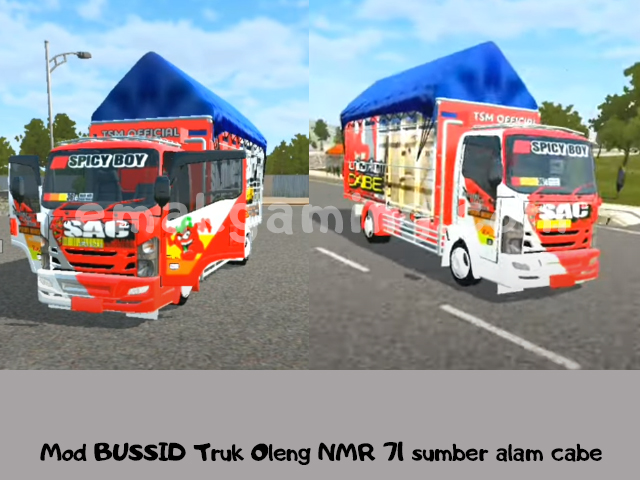 Mod BUSSID Truk Oleng NMR 71 sumber alam cabe