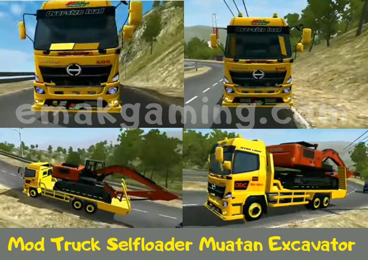Mod BUSSID Truck HINO Muatan excavator