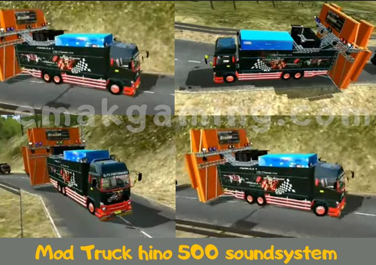 Mod Truck hino 500 soundsystem