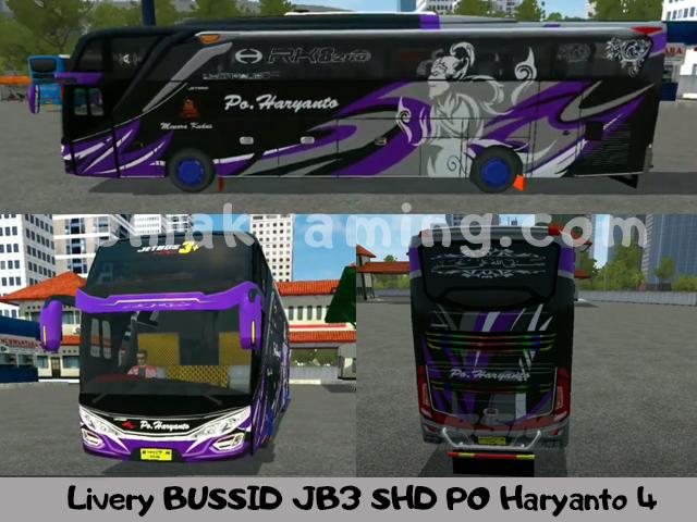 Livery BUSSID JB3 SHD PO Haryant