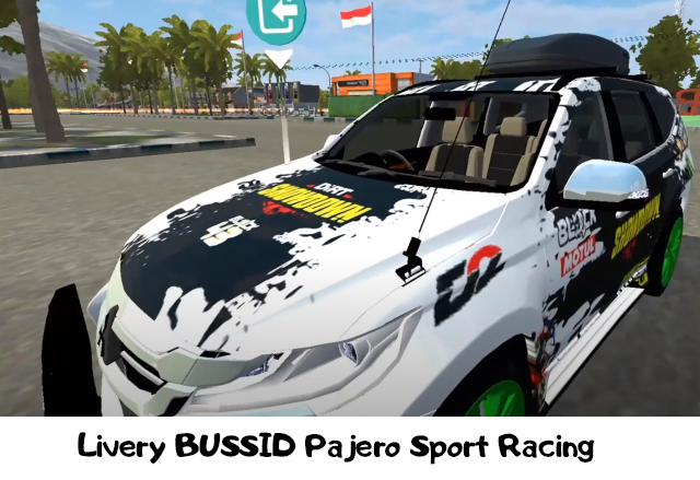 Livery BUSSID Pajero Sport Racing