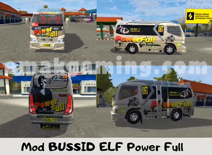Mod BUSSID ELF Power Full