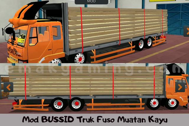 Mod Bussid truk fuso muatan kayu