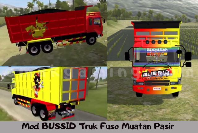 Mod BUSSID Truk Fuso Muatan Pasir