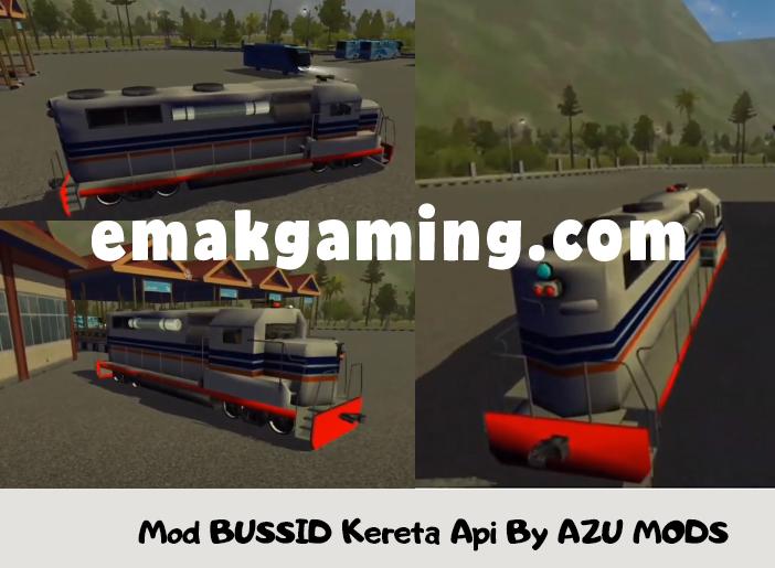 Mod BUSSID Kereta Api By AZU MODS