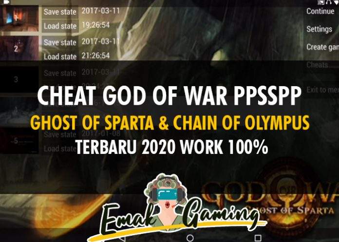 cheat god of war PPSSPP