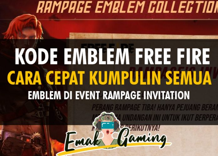 kode emblem free fire rampage invitation